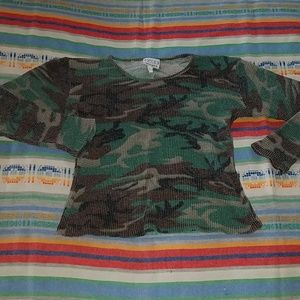 Vintage Cropped Camo Thermal